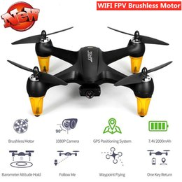 gps control rc UK - WIFI FPV With Wide Angel HD Camera Foldable Brushless RC Quadcopter GPS Position Follow Me One Key Return phone Control aircraft