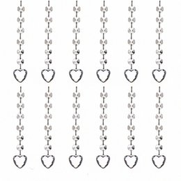 clear crystal beads curtain Canada - 20pcs Clear Acrylic Crystal Diamond Beads Pendant Strand Curtain Wedding Party Decorations Hanging Light Drop Ornaments(Heart) TPW8#