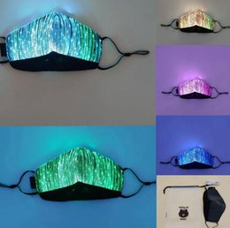 mask for face glow Canada - Color Lights LED Light up Face Mask USB Rechargeable Glowing Dust Mask for party bar Dancing Rave Masquerade Costumes face mask LJJK2154
