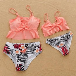 match clothing mom baby Australia - Tank Mother Daughter Swimsuits High Waist Mommy And Me Swimwear Clothes Family Matching Outfits Look Mom & Baby Beachwear Dress v9T1#