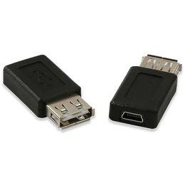 Ad alta velocità USB 2.0 Tipo A femmina al mini USB 5 pin B convertitore femminile del connettore del caricatore di trasferimento di dati di carico di sincronizzazione Adapter in Offerta
