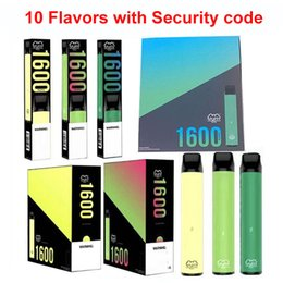 Wholesale Puff XXL 1600puffs Disposable With Scratch Code Vape Pen Device Starter Kits 10 flavors Disposable Device Kits Puff Flow Puff Xtra Plus