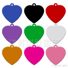 diy pet id tags UK - Universal Pet Label Anti Lost Heart Shape Blank Dog Tags Double Sides DIY Aluminum Alloy Dogs ID Card Without Chain 0 57qy ZZ