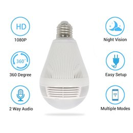 network lights NZ - 1080P Bulb Camera Surveillance Head WiFi Network Camera LED Bulb Light Multifunctional Surveillance Wholesale Ip Remote White