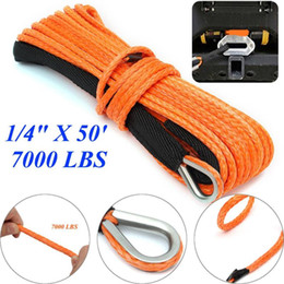 tow cable UK - Car Emergency Trailer Belt 7000lbs Vehicle Winch Cable Synthetic SUV Recovery Replacement Towing Rope Outdoor Accessories