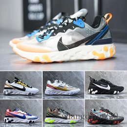 canvas sailing shoes Australia - React Element 87 Undercover Men Running Shoes For Women Designer Sneakers Sports Mens Trainer Shoes Sail Light Bone Royal Tint N-R5T