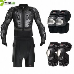 motorcycle protection jacket Australia - WOSAWE Sports Back Support Jacket Knee Pads Snowboard Cycling Motorcycle Guard Brace Protective Gear Chest Ski Protection Adult FPx3#
