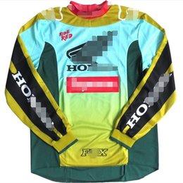 estate a maniche lunghe tuta in discesa esplosiva primavera e l'autunno FOX off-road moto racing team in discesa personalizzato giacca traspirante e superiore in Offerta