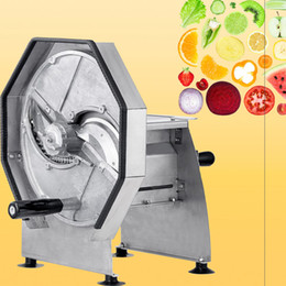 apple slicers UK - 2020 Stainless Steel Fruit Slicer Manual Vegetable Slicing Machine Juice Store Equiment Fruit Drying Lemon Apple Slicing Machine