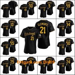 PittsburghPirates 21 Roberto Clemente 24 Chris Archer 8 Willie Stargell Men Women Youth Custom Black 2020 Alternate Jersey on Sale