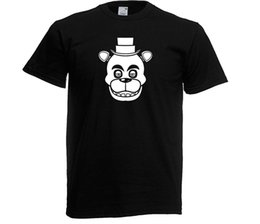 T-shirt Freddy Fazbear filhos adultos. Fnaf Cool Game Orgulho Unisex T Shirt Men Casual t-shirt Moda