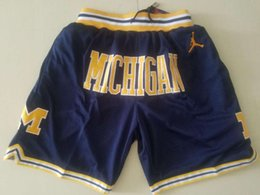 Groihandel Michigan Wolverines Performance-Shorts Gerade Don Jersey Shorts