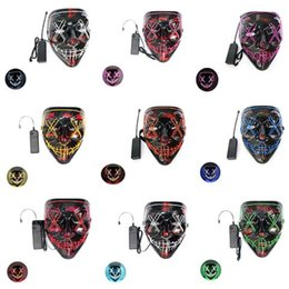 mask for face glow Australia - LED Light Up Rave Mask Designer Face Mask Reusable Face Masks Facemask Luminous Glowing Masks For Party Festival Dancing Gift,7 Colors#994