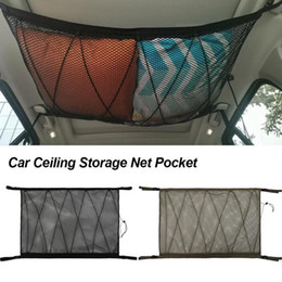 storage car trunk organizers Australia - Car Ceiling Storage Net Pocket Car Roof Interior Cargo Net Bag Portable Trunk Storage Pouch Sundries Organizer