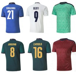 kids uniform shirts Canada - 2020 italy jersey soccer tops maillot italie kids men BELOTTI JORGINHO INSIGNE SENSI football shirt maglie calcio goalkeeper soccer uniforms