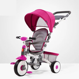 2020Baby Stroller Children Tricycle Multifunction Can Sit or Lie Child Bicycle Large Basket Easy To Trave Summer