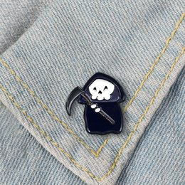 wholesale t shirts china Canada - Cartoon Enamel Brooch Pins Halloween Brooch Lapel Pins Fun Trendy Accessory for Jacket T-Shirt Bag Hat Shoe