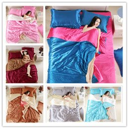 washing silk pillowcases Australia - Romantic matching color silk bedding set 2 3pcs with pillowcase Home Bedclothes with colourful High Quality of Bedding Supplies