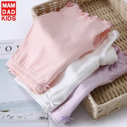 short leggings children NZ - Parents and girls anti-exposure 3-piece Children's lace Tight safety pants safety pants leggings baby girl parent-child boxer shorts