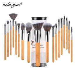 makeup brushes set function NZ - vela.yue Makeup Brush Set 18 10 5pcs Full Function Powder Foundation Blusher Bronzer eyeliner Shadow Brow Lip Gloss Beauty Tool CX200717