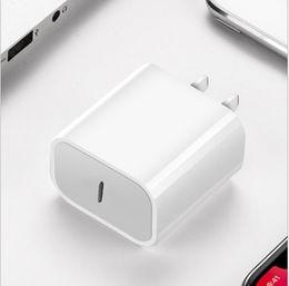 Опт UPS Fast USB C Настенный адаптер 18W питания Доставка PD быстрое зарядное устройство адаптер ТИП C зарядное устройство Fast адаптер я 11 11 Pro Макс без коробки 5V 3A 9V 2A