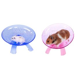 fly wheels toy Canada - 18cm Diameter Hamster Toy Hamster Mouse Plastic Running Disc Flying Saucer Pet Exercise Sport Jogging Wheel Small Pet Accessorie