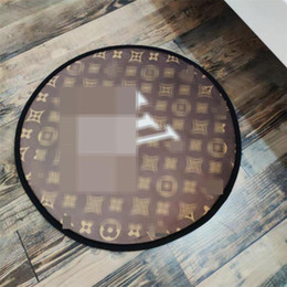 Wholesale 3 Patterns Quick Dry Mats Fashion Printed Design Bathroom Mat Indoor Non-slip Personality Charm Round Mats