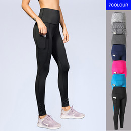 sexy black girls yoga pants NZ - New Sport Tight Trousers Women Pocket Yoga Running Pants High Quality Girls Black Sexy Slim Yoga Leggings Female Long Pants