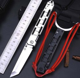 army knifes UK - Outdoor Slingshot Folding Knife Multifunction Knife Army 5CR13 Blade All Steel Handle Camping Hunting Knife Military Tactical Self-Defense