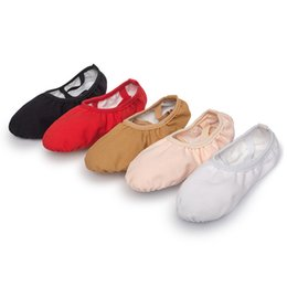 yoga slippers UK - neakers Dance Shoes USHINE professional quality Children dance slippers canvas soft Sole belly yoga gym ballet shoes girls woman man ball...