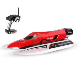 Venta al por mayor de WLtoys nueva WL915 2.4Ghz 2CH 45 kmh RC barco con motor sin escobillas de alta velocidad Barco RC Racing para Niños 2020