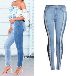 women slim lift pants NZ - Women Fringed Push Up Hip Pencil Lift Skinny Jeans Patchwork Stretch Slim Fit Denim Pants Lady High Elastic Korean Jean Trousers