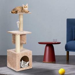 """36"""" árbol del gato Cama Muebles Rascar Post Tower Condo gatito mascotas Casa Beige en venta"""