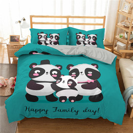 panda covers NZ - Lovely 2 3pcs Bedding Set 3D Printed Panda Family Duvet Cover Bed Set For Home Textiles Lightweight Bedclothes With Pillowcase