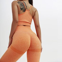 organic yoga 2020 - Women Two Piece Yoga Set Sport Wear Workout Clothes Women Sports Bra Yoga Pants Gym Clothing Fithess Solid Color Running