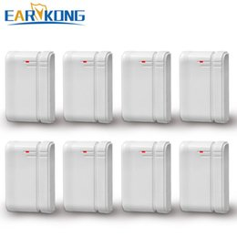 security systems for homes Australia - ensor & Detector Earykong Wireless Door gap detector, 433MHz, inside antenna, 8 pieces include, for security home alarm system, door magn...