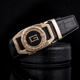 letter g belt UK - New fashion Men's Youth genuine leather belt Double G letter buckle belt automatic buckle casual