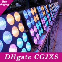 blinder stage light UK - Road Case 4 Pack Led Blinder Light Matrix Light 16pcs 30w Rgb 3in1 Cob Led Pro Led Stage Lighting