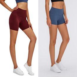 Großhandel Lu-32 einfarbig frauen yoga hosen hohe taille sport gym wear leggings elastische fitness dame insgesamt volle strumpfhosen workout