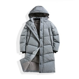 Wholesale nylon jacket hood for sale – winter Stone Pirates island ss new White goose down filled metal nylon hood down jacket with brand print on the back