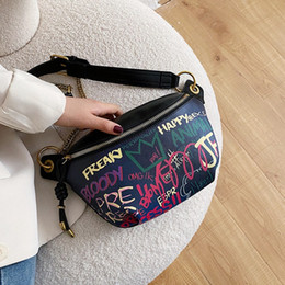 graffiti waist bag NZ - Bag Vintage Casual Waist Women Girl High Quality Handbag Pack Printed Harajuku Crossbodykorean Travel Graffiti Female Shoulder Package Qcam