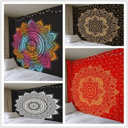 red tapestries NZ - New sunscreen square background wall digital printing fashion tapestry home decoration mural beach towel Mural beach towel