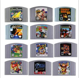 venda por atacado Repro Video Game Cartuchos para N64 Console, raça Malabarismo, Mario Kart 64, Harvest Moon 64, Super Smash Bros. ZELDA, Bad Fur Day do Conker