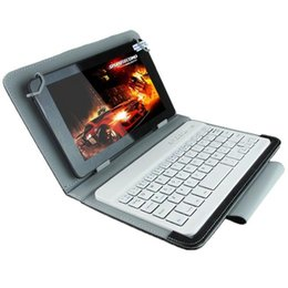 Discount bluetooth case keyboard tablet pc Universal Bluetooth Keyboard with Leather Case & Holder for Ainol   PiPO   Ramos 9.7 inch   10.1 inch Tablet PC