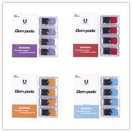 Ingrosso 100% originale UptownTech Gem Pods Nuovo Pacchetto 1,0 ml 1.5ohm Svuotare cartuccia del carro armato Vape Pods compatibile 4 baccelli
