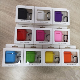 Wholesale airpod cases resale online - 2 in For Apple Airpods Cases Silicone Soft Ultra Thin Protector Airpod Cover Earpod Case Anti drop With Hook Retail Box DHL Shipping