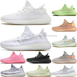 discount kanye west shoes UK - Kanye Discount West Clay V2 Static Reflective GID Glow In The Dark Mens Running Shoes True For