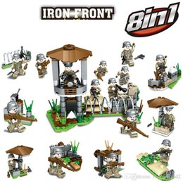 blocks battle NZ - New Arrival WW2 World War II Assembly Military Mini Action Figure German Army Iron Front Battle Solider Building Blocks Brick Toy For Boy