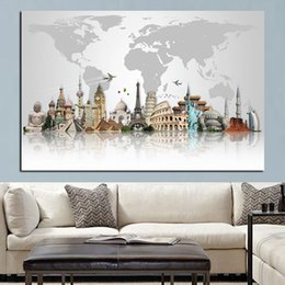 famous modern abstract art paintings 2021 - Big Ben Eiffel Tower Canvas Painting Modern Nordic Poster Prints Abstract Famous Buildings Wall Art Picture for Living Room Home Decoration