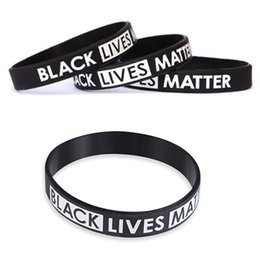 designer style bracelets NZ - Black Lives Matter Silicone Wristband I CAN'T BREATHE Black Silicone Rubber Bracelet 19 Styles Men Women Silicone Bangles BH3848 TQQ